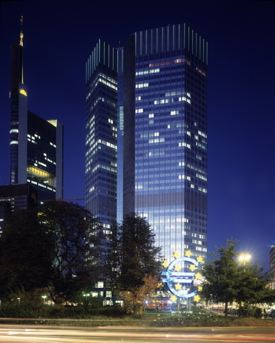 The Eurotower at night