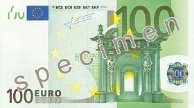 100 Euro front
