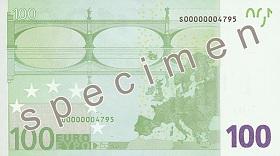 Achterzijde €100