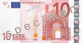 10 Euro front