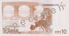 Achterzijde €10