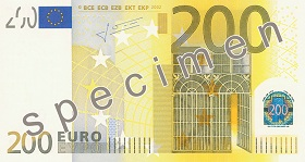 200 Euro front