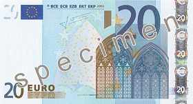 20 Euro front