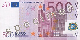 500 Euro front
