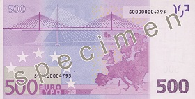 Achterzijde €500