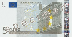 5 Euro front