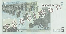 Achterzijde €5