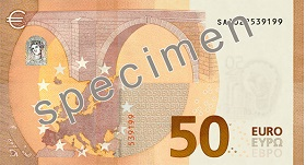 50 euro banknotes reverss