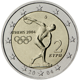 Example of a €2 commemorative side