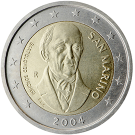 Face comemorativa da moeda de €2