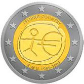 Moneta o nominale 2 € - strona okolicznościowa