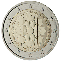 <p>Francia:</p><p>Bleuet de France (Aciano de Francia)</p>