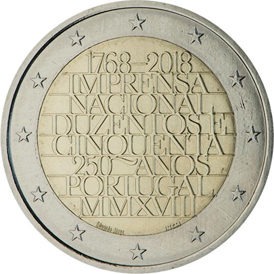 <p>2018:</p><p>250 años de la Imprenta Nacional («Imprensa Nacional»)</p>