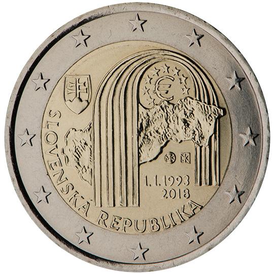 <p>2018:</p><p>25º aniversario de la creación de la República Eslovaca</p>
