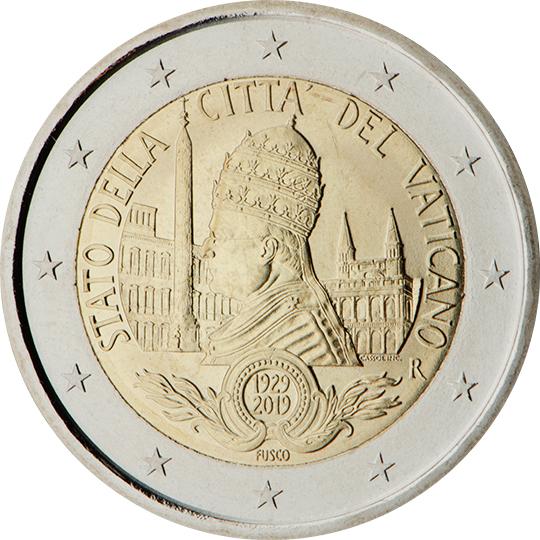 <p>2019:</p><p>90º aniversario de la fundación del Estado de la Ciudad del Vaticano</p>