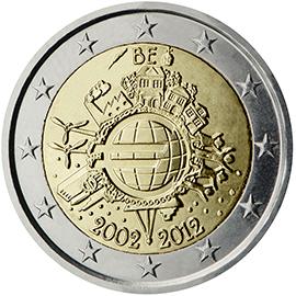 Κοινή όψη αναμνηστικού κέρματος των 2 ευρώ που εκδόθηκε το 2012των 2 ευρ
