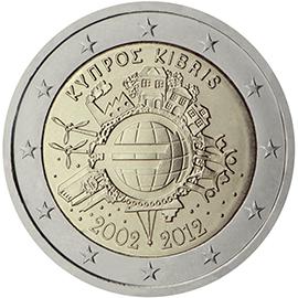<p>Chipre:</p><p>Diez años de billetes y monedas en euros</p>