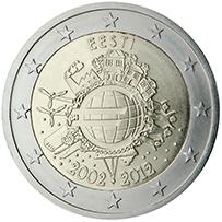 <p>Estonia:</p><p>Diez años de billetes y monedas en euros</p>