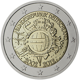<p>Alemania:</p><p>Diez años de billetes y monedas en euros</p>