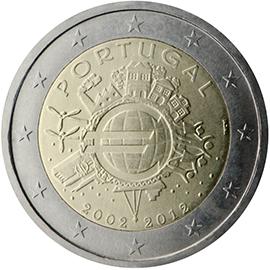 <p>Portugal:</p><p>Diez años de billetes y monedas en euros</p>