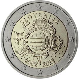 <p>Eslovenia:</p><p>Diez años de billetes y monedas en euros</p>