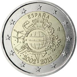 <p>España:</p><p>Diez años de billetes y monedas en euros</p>