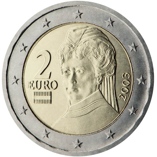 Austria Chose To Produce A Series Of Coins Ilrating Flowers Architecture And Famous People From Its History The Designs Were Chosen By National