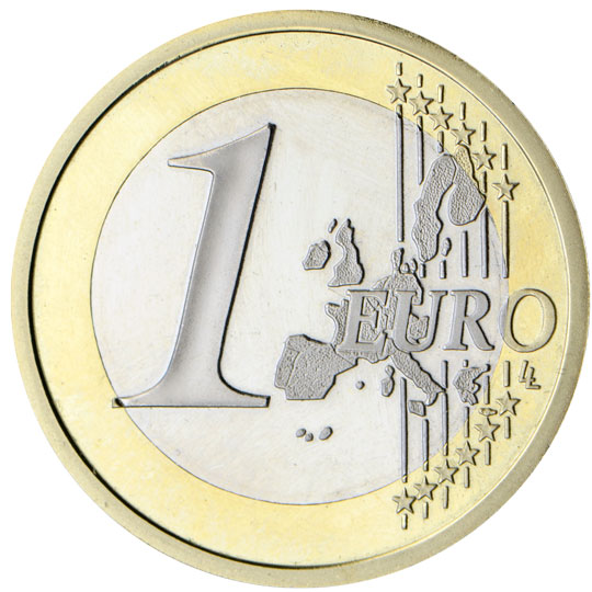 €1 common side