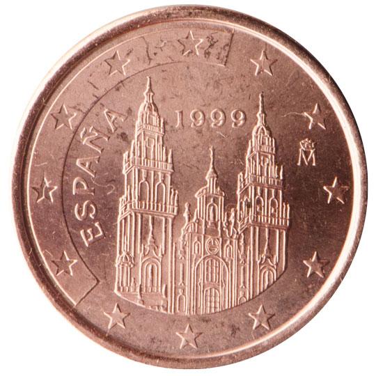 Tre Sono I Simboli Raffigurati Sulle Monete Spagnole Leffigie Del Re Il Ritratto Di Miguel De Cervantes E La Cattedrale Di Santiago Di Compostela