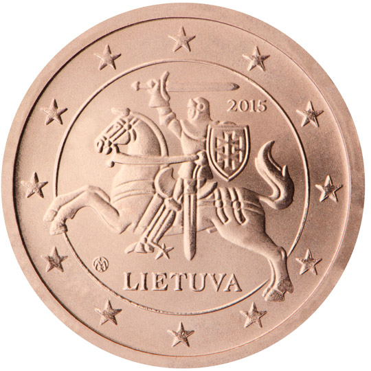 Lithuania S Euro Coins Show The Coat Of Arms Republic Vytis Country Issuance Lietuva And Year 2017