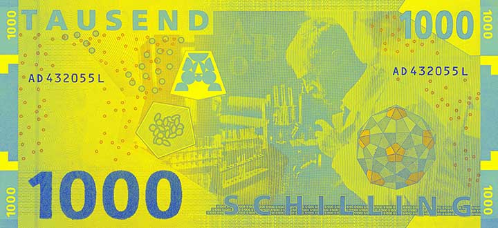 1,000 schilling banknote backside