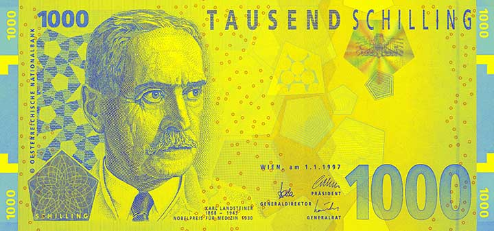 1000-Schilling-Banknote