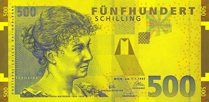 500-Schilling-Banknote
