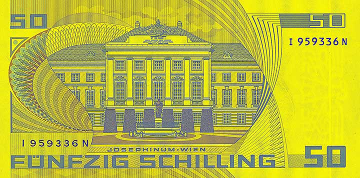 50 schilling banknote backside