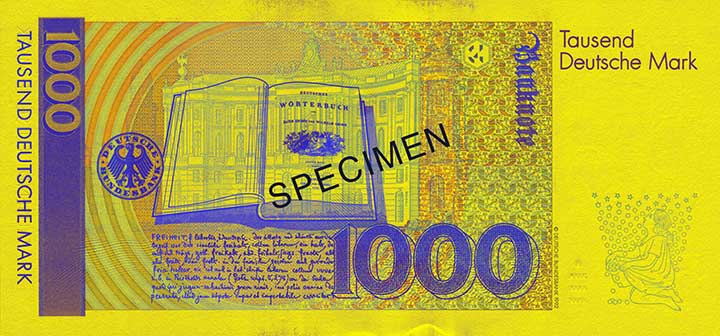 1000 Deutsche Mark-biljet