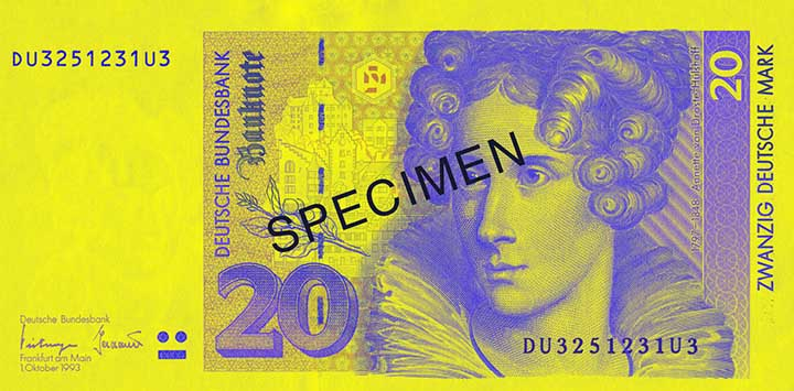 20 Deutsche Mark-biljet