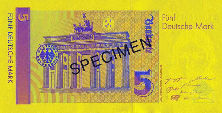 5 Deutsche Mark-biljet