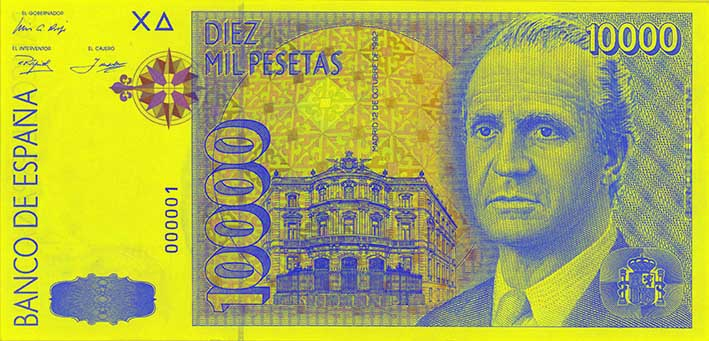 Billete de 10000 pesetas