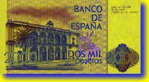 2,000 peseta banknote backside