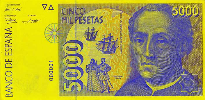 Billete de 5000 pesetas