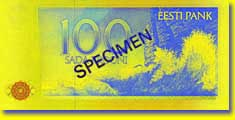 100 kroon banknote backside