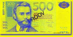 Billet de 500 couronnes - recto