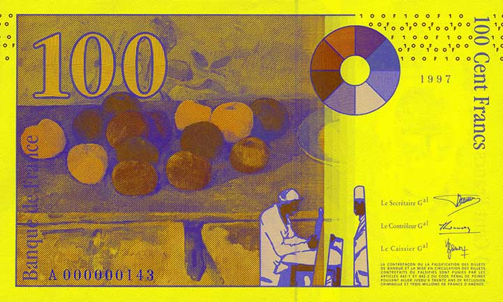Billete de 100 francos franceses