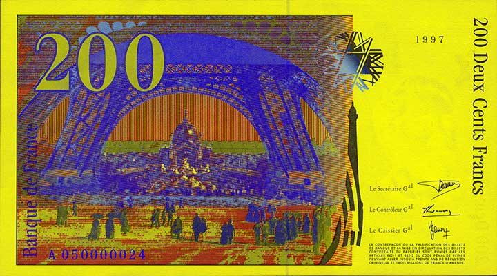 Billete de 200 francos franceses