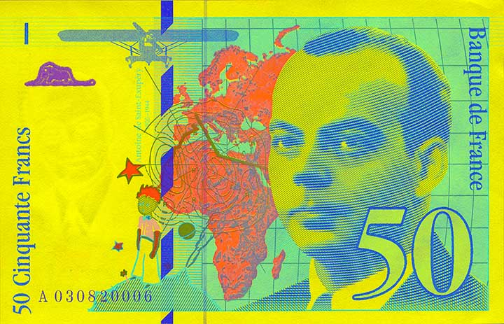 Billete de 50 francos franceses