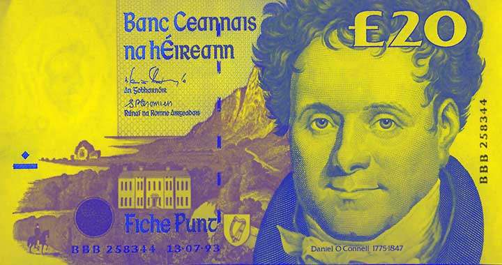 20 Irish pound banknote frontside