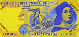 Billete de 500000 liras italianas