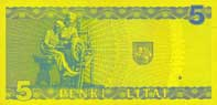 5 litas banknote backside