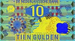 10 Guilder Banknote Frontside