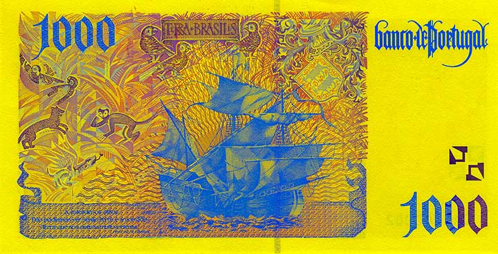 1,000 escudo banknote backside